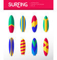 surfing boards - modern flat design icons vector image