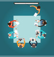 top view of business presentation vector image vector image