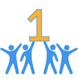 Number 1 Team people celebrate big win vector image vector image