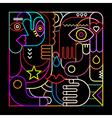 abstract art neon vector image vector image