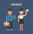 Businessman Concept Male and Female Cartoon vector image vector image