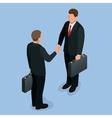 Businnes handshake concept Handshake in flat vector image