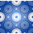 Repeating dark blue vintage pattern vector image vector image