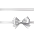 silver ribbon bow vector image