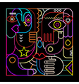 abstract art neon vector image