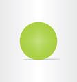 abstract green net globe circle vector image