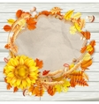 Beautiful shining autumn backdrop EPS 10 vector image