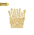 Gold glitter icon of French fries isolated vector image