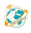 internet concept website vector image