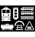 isolated railway white objects set vector image
