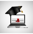 online education concept certificate diploma icon vector image