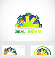 Real estate city logo vector image