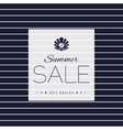 Summer Sale poster on striped background vector image