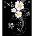 Wild rose blossoms vector image