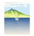 Sailboat Mountains Retro vector image