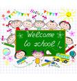Welcome to school vector image