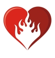 flame heart icon vector image