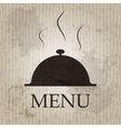 Restaurant menu template in grunge retro style vector image vector image