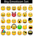 large Set a round yellow emoticons vector image
