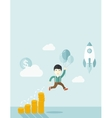 Asian businessman holding balloons vector image
