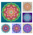 Mandalas collection Round Ornament Pattern Vintage vector image