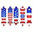 american flag longboards vector image