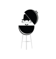 barbecue with humain head vector image