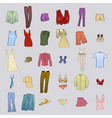 clothing templates vector image