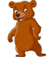 Cute bear standing isolated on white background vector image