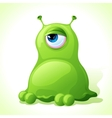 cute green monster isolated on white background vector image