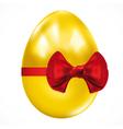 Gift golden easter egg vector image
