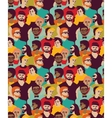 Man only crowd big group color seamless pattern vector image