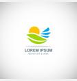 nature environment logo vector image