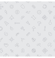 seamless icons industrial background vector image
