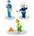 set of workers man vector image