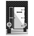Vintage Door entrance facade vector image