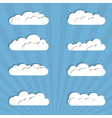 Collection of paper clouds vector image vector image