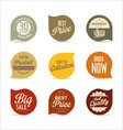 Modern badges collection 4 vector image