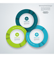 Business pie chart for documents and reports for vector image vector image
