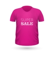 Super Sale Pink T-Shirt Isolated on White vector image