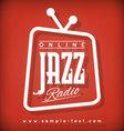 Jazz Radio vector image