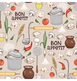 Bon Appetit seamless background pattern vector image vector image