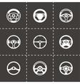 Steering wheels icon set vector image