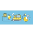 Concept Car of the Future Road Transport vector image
