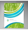 Beautiful Green Flyer vector image