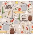 Bon Appetit seamless background pattern vector image