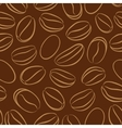 Coffee seamless pattern with coffee beans vector image