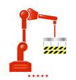 robotic hand manipulator icon flat style vector image