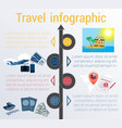 travel infographic template 4 positions vector image