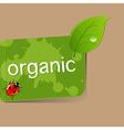 Organic Label vector image vector image